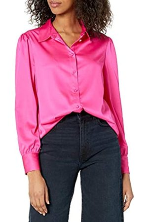 THE DROP Mujer Blusas - @lucyswhims Camisa de Manga Larga con Botones para Mujer