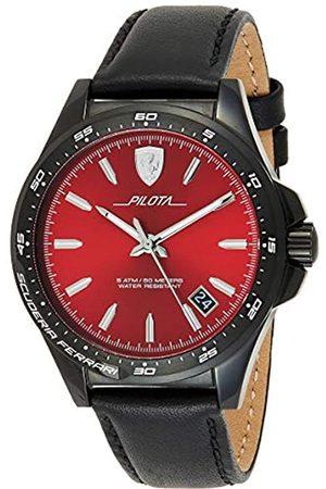 Scuderia Ferrari Reloj Analógico para Hombre de Cuarzo con Correa en Cuero 830525
