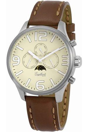 Engelhardt Hombre Relojes - 385727529082 - Reloj analógico de caballero automático con correa de piel - sumergible a 50 metros