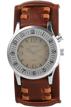 Excellanc 296227000001 - Reloj analógico de caballero de cuarzo con correa de piel