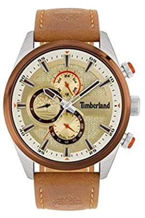 Timberland Hombre Relojes - Reloj Analógico para Hombre de Cuarzo con Correa en Piel 15953JSTBN-04