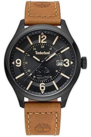 Timberland Hombre Relojes - Reloj Analógico para Hombre de Cuarzo con Correa en Cuero TBL.14645JSB/02