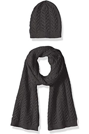 Amazon Cable Knit Hat and Scarf Set cold-weather-accessory-sets, oscuro Heather