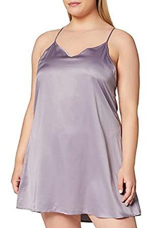 IRIS & LILLY Mujer Lencería y Ropa interior - Marca Amazon - Camisón Corto de Tirantes con Detalle de Encaje para Mujer, Morado (Grey Ridge), S
