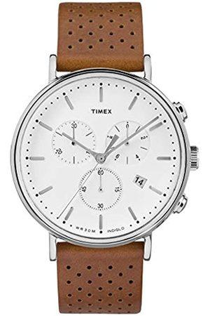 Timex Hombre Relojes - Reloj Cronógrafo para Hombre de Cuarzo con Correa en Cuero TW2R26700