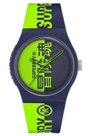 Superdry Hombre Relojes - Reloj Analógico para Hombre de Cuarzo con Correa en Silicona SYG346UN