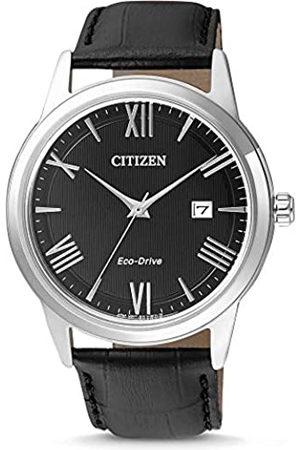 Citizen Hombre Relojes - Reloj Analógico para Hombre de Cuarzo con Correa en Cuero AW1231-07E