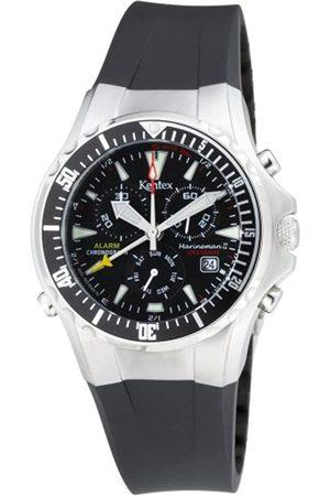 Unbekannt Hombre Relojes - Kentex MarineMan 2 Chronograph Black S332M-CBK/BK - Reloj cronógrafo de caballero de cuarzo con correa de goma negra