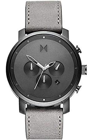 MVMT Hombre Relojes - Reloj Hombre de Cuarzo analógico con Correa en Cuero Genuino D-MC02-BBLGR