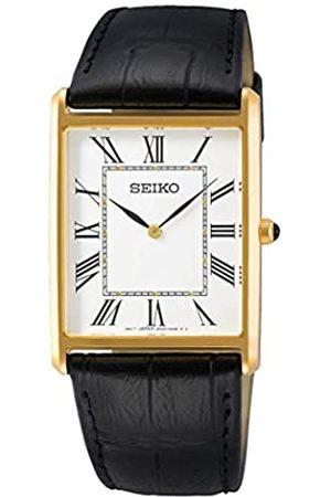 Seiko Reloj Analógico para Hombre de Cuarzo con Correa en Cuero SWR052P1