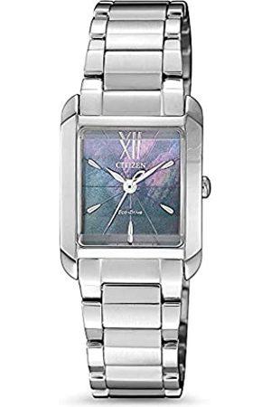 Citizen Mujer Relojes - Reloj Analógico para Mujer de Eco-Drive con Correa en Acero Inoxidable EW5551-81N