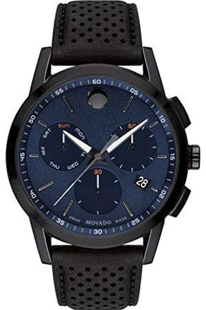 Movado Hombre Relojes - Reloj Analógico para Hombre de Cuarzo con Correa en Cuero 0607360