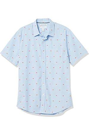 Amazon Hombre Casual - Slim-Fit Short-Sleeve Casual Poplin Shirt Camisa