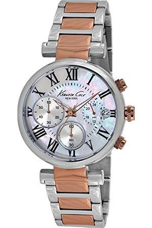 Kenneth Cole Mujer Relojes - Reloj Cronógrafo para Mujer de Cuarzo con Correa en Acero Inoxidable KC4970