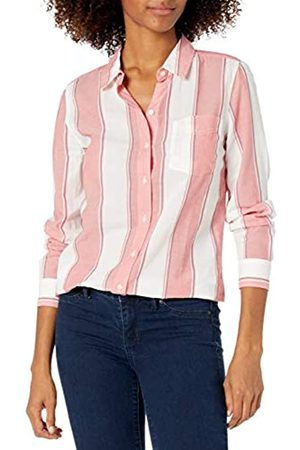 Goodthreads Mujer Blusas - Cotton Dobby Long-Sleeve Button-Front Tunic Shirt Shirts