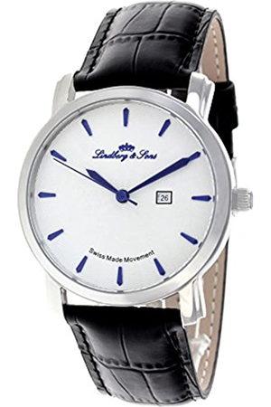 LINDBERG Hombre Relojes - Lindberg&SonsRelojAnalógicoparaHombredeCuarzoconCorreaenMetalLS15SA1S