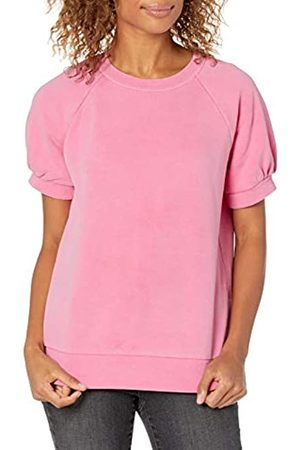 Goodthreads Mujer Jerséis y sudaderas - Heritage Fleece Blouson Short-Sleeve Shirt Fashion-Sweatshirts M