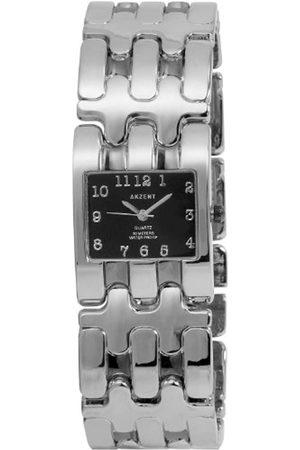 Akzent SS7171000050 - Reloj analógico de mujer de cuarzo con correa de aleación plateada - sumergible a 30 metros