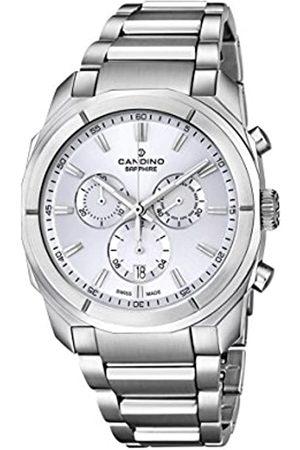Candino Hombre Reloj de Cuarzo con cronógrafo de Plata y Plata Pulsera de Acero Inoxidable C4579/1