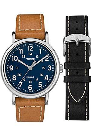 Timex Reloj Análogo clásico para Hombre de Cuarzo con Correa en Cuero TWG019200