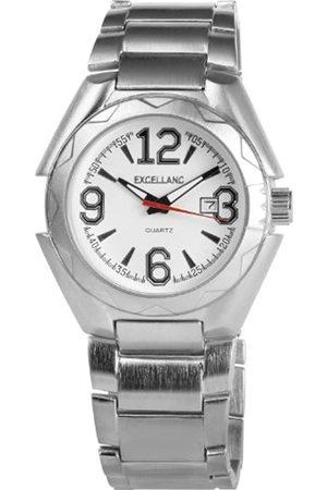 Excellanc 284022000102 - Reloj analógico de caballero de cuarzo con correa de aleación plateada