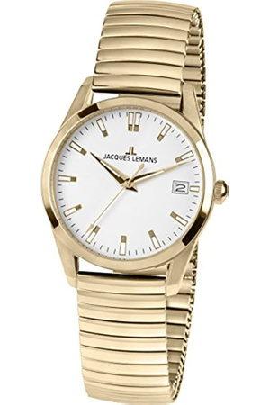 Jacques Lemans Mujer Relojes - Reloj Analógico para Mujer de Cuarzo con Correa en Acero Inoxidable 1-1763F