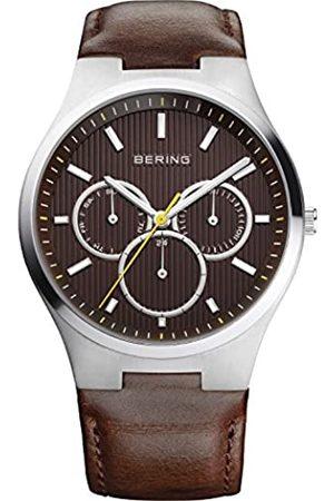 Bering Reloj Analógico Classic Collection para Hombre de Cuarzo con Correa en Cuero & Cristal de Zafiro 13841-505
