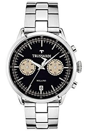 Trussardi Reloj Analógico para Hombre de Cuarzo con Correa en Acero Inoxidable R2453123003