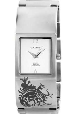 Akzent Mujer Relojes - SS8222500004 - Reloj analógico de mujer de cuarzo con correa de aleación plateada - sumergible a 30 metros