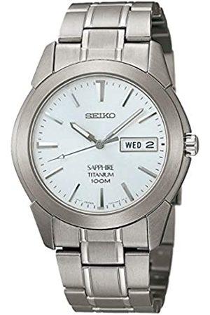 Seiko Hombre Relojes - Reloj Analógico de Cuarzo para Hombre con Correa de Titanio – SGG727P1