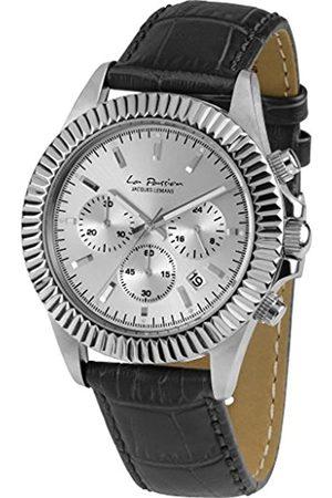 Jacques Lemans Relojes - Reloj Cronógrafo para Unisex de Cuarzo con Correa en Cuero LP-111B