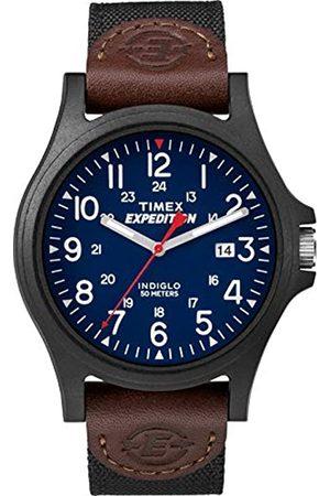 Timex Hombre Relojes - ExpeditionCamperDate40mmRelojparaHombreconCajadeResinaCorreadeTelaNegraTWF3C8410
