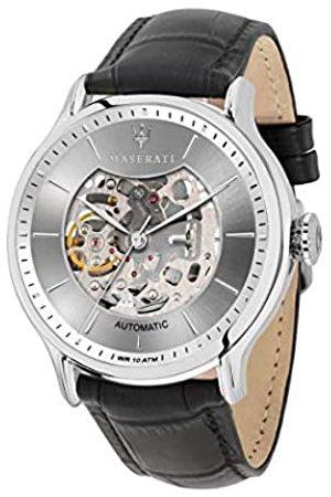 Maserati Reloj Analógico para de los Hombres de Automático con Correa en Cuero R8821118007