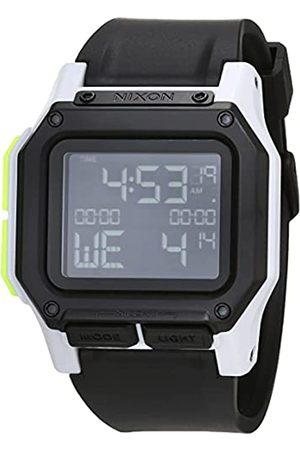 Nixon Reloj Digital para Hombre de Cuarzo con Correa en Silicona A1180-3407-00