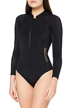 AURIQUE Mujer Bañadores - Marca Amazon - Monokini Mujer (Black), XL