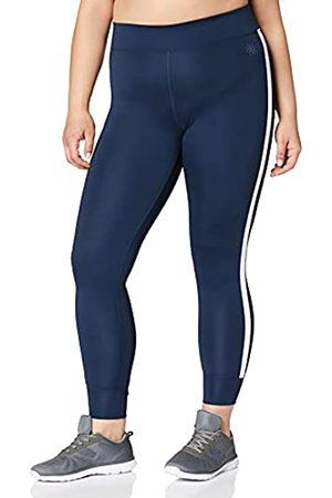 AURIQUE Mujer Leggings - Marca Amazon - Leggings de Deporte con Banda Lateral Mujer (Dress Blue), 36