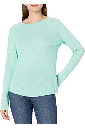 Goodthreads Mujer Camisetas y Tops - Camiseta de Manga Larga Raglán de Lino Camisa