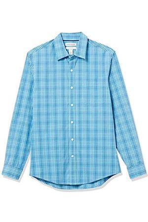 Amazon Hombre Casual - Long-Sleeve Slim-Fit Shirt Camisa, Tela Escocesa /