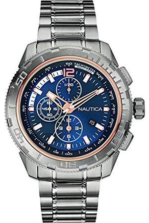 Nautica Mujer Relojes - RelojCronógrafoparaHombredeCuarzoconCorreaenAceroInoxidableNAI24500G
