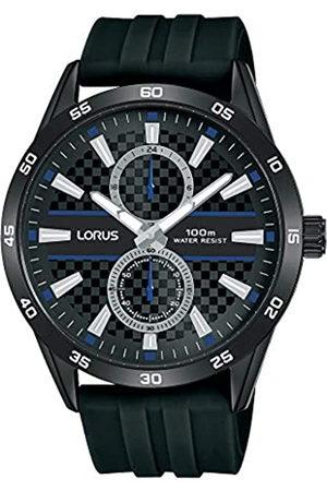 Lorus Hombre Relojes - Reloj Analógico para Hombre de Cuarzo con Correa en Silicone R3A43AX9