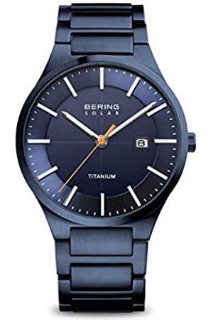 Bering Hombre Relojes - Reloj Analógico Titanium Collection para Hombre de Energía Solar con Correa en Titanio & Cristal de Zafiro 15239-797
