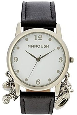 Manoush Hombre Relojes - RelojAnalógicoparaUnisexAdultosdeCuarzoconCorreaenPUMSHCH01