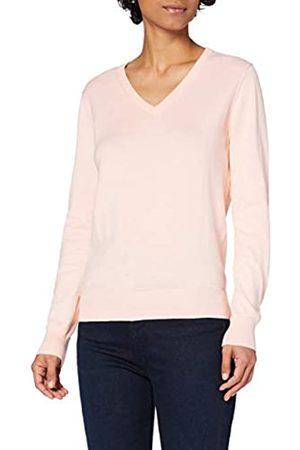 MERAKI Marca Amazon - Jersey de Algodón Mujer Cuello Pico, (Pale Pink), 38