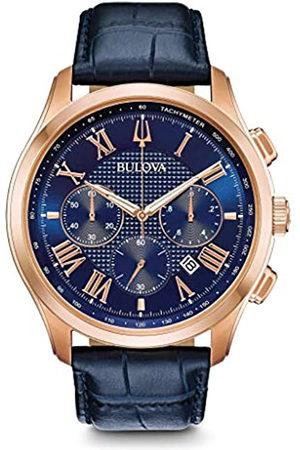 BULOVA Hombre Relojes - RelojCronógrafoparaHombredeCuarzoconCorreaenCuero97B170