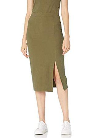THE DROP Veronique Falda de cintura alta con raja Mujer