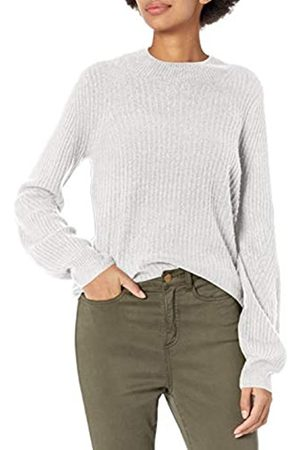 Daily Ritual Mid-Gauge Stretch Balloon Sleeve Crewneck Sweater Pullover-Sweaters, Claro