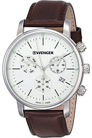 Wenger Reloj Cronógrafo para Unisex de Cuarzo con Correa en Cuero 01.1743.101