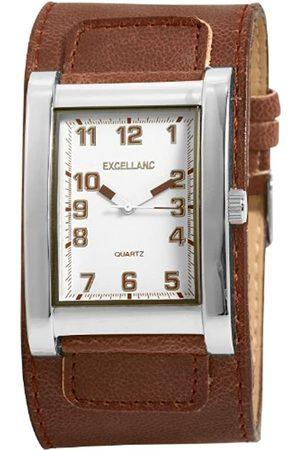 Excellanc 293022100089 - Reloj analógico de caballero de cuarzo con correa de piel