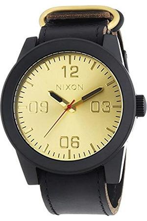 Nixon Hombre Relojes - Corporal Black Gold - Reloj de Cuarzo para Hombre