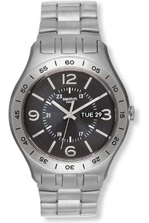 Swatch YTS704G - Reloj analógico de Cuarzo para Hombre con Correa de Acero Inoxidable
